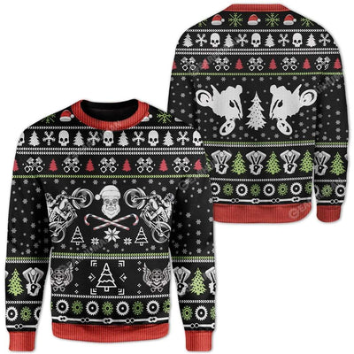 Ugly Biker Custom Sweater Apparel HD-DT22111910 Ugly Christmas Sweater