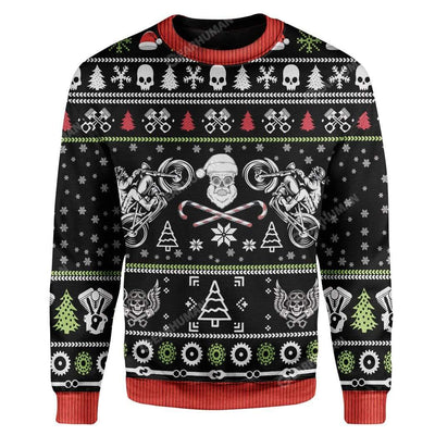 Ugly Biker Custom Sweater Apparel HD-DT22111910 Ugly Christmas Sweater Long Sleeve S