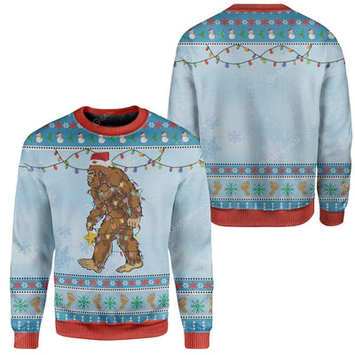 Ugly Christmas Bigfoot Sweater Apparel HD-TA2711193 Ugly Christmas Sweater