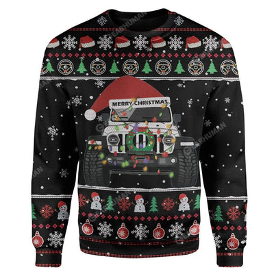 Ugly Christmas Car Custom Sweater Apparel HD-TA21111902 Ugly Christmas Sweater Long Sleeve S