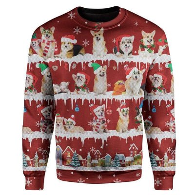 Ugly Christmas Dog Custom Sweater Apparel HD-DT18111903 Ugly Christmas Sweater Long Sleeve S