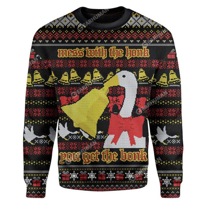 Ugly Christmas Duck Custom Sweater Apparel HD-TT16111904 Ugly Christmas Sweater Long Sleeve S