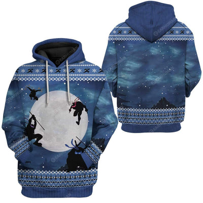 Ugly Christmas Ninja Hoodie TShirt Apparel HD-TA0312193 3D Custom Fleece Hoodies