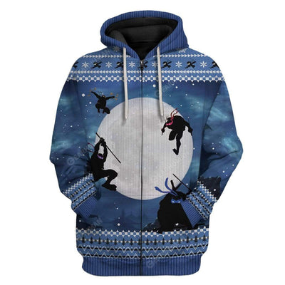 Ugly Christmas Ninja Hoodie TShirt Apparel HD-TA0312193 3D Custom Fleece Hoodies Zip Hoodie S