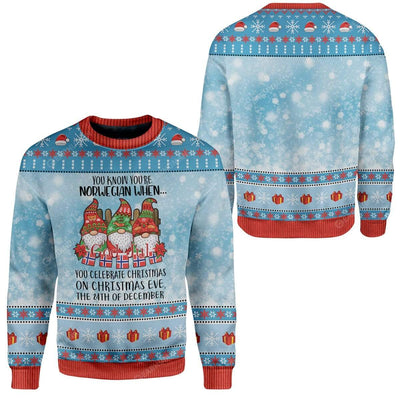 Ugly Christmas Norwegian Christmas 24th Custom Sweater Apparel HD-AT2611191 Ugly Christmas Sweater