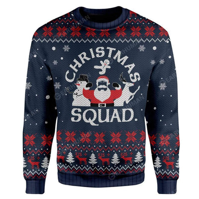 Ugly Christmas Squad Hoodie T-Shirts Apparel HD-AT3011192 3D Custom Fleece Hoodies Long Sleeve S