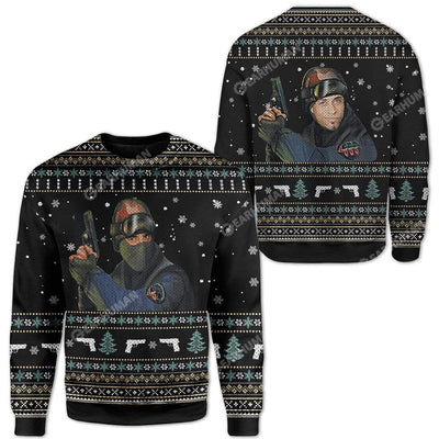 Ugly Counter Strike Custom Sweater Apparel HD-AT19111908 Ugly Christmas Sweater