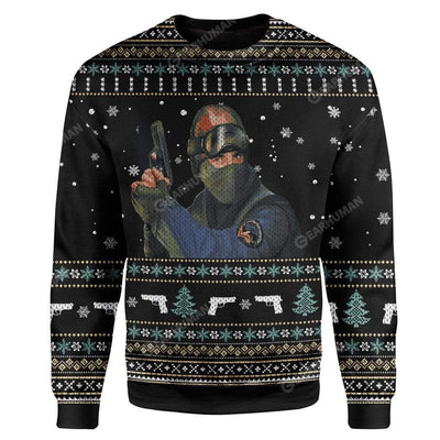 Ugly Counter Strike Custom Sweater Apparel HD-AT19111908 Ugly Christmas Sweater Long Sleeve S