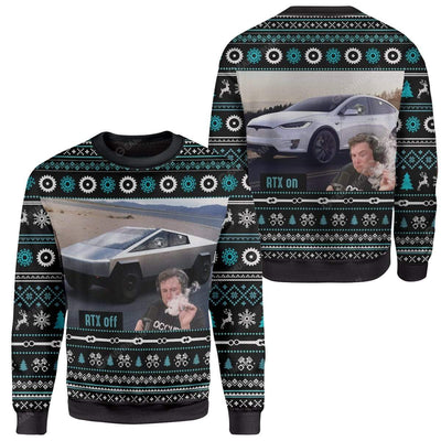 Ugly Cybertruck RTX On Off Custom Sweater Apparel HD-AT25111919 Ugly Christmas Sweater