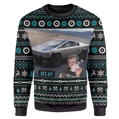 Ugly Cybertruck RTX On Off Custom Sweater Apparel HD-AT25111919 Ugly Christmas Sweater Long Sleeve S