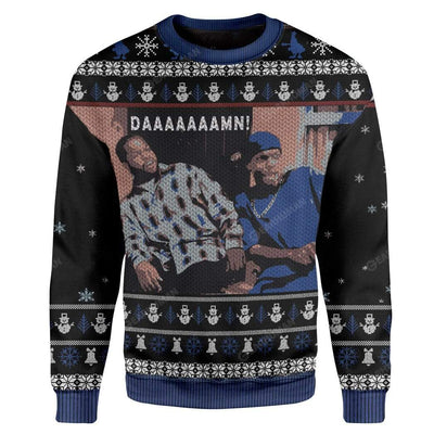 Ugly Friday Damn Custom Sweater Apparel MV-AT2811191 Ugly Christmas Sweater Long Sleeve S