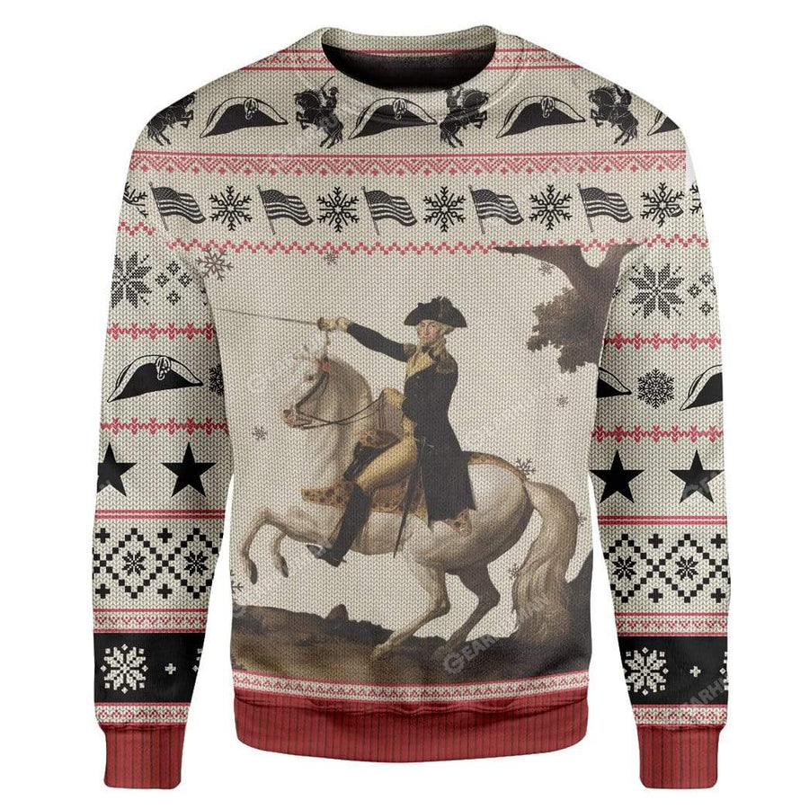 Ugly George Washington Custom Sweater Apparel