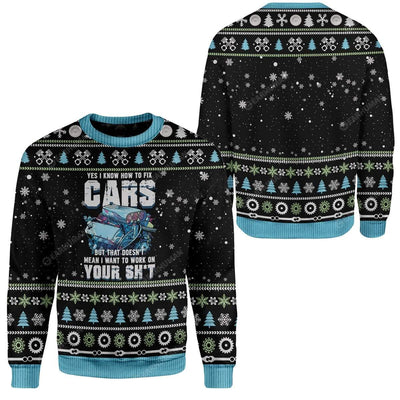 Ugly Mechanic I Know To Fix Cars Custom Sweater Apparel HD-DT2711195 Ugly Christmas Sweater