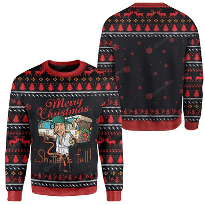 Ugly Merry Christmas Sh*tter's Full Custom Sweater Apparel MV-AT2811194 Ugly Christmas Sweater