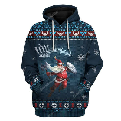 Ugly Merry Viking Christmas Custom T-Shirts Hoodies Apparel VK-DT2811194 3D Custom Fleece Hoodies Hoodie S