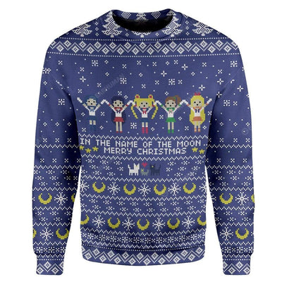 Ugly Sailor Moon Custom Sweater Apparel HD-TA16111901 Ugly Christmas Sweater Long Sleeve S