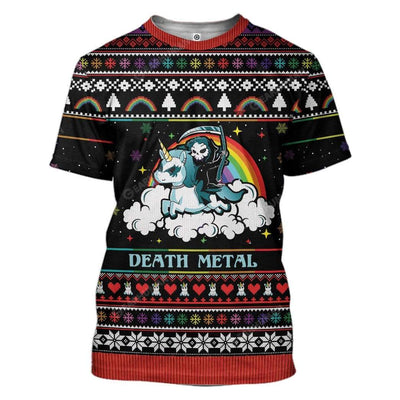 Ugly Sweater Death Metal Hoodie T-Shirts Apparel MS-QM28111911 3D Custom Fleece Hoodies T-Shirt S