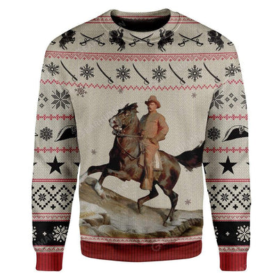 Ugly Theodore Roosevelt Custom Sweater Apparel HD-AT13111920 Ugly Christmas Sweater Long Sleeve S