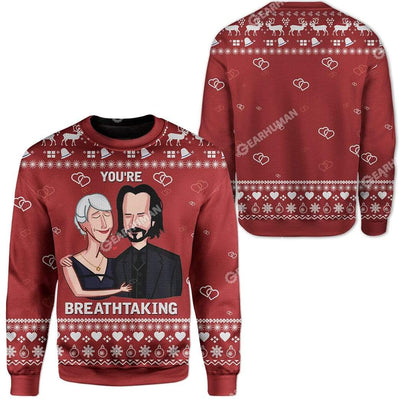 Ugly You're Breathtaking Custom Sweater Apparel HD-DT12111921 Ugly Christmas Sweater