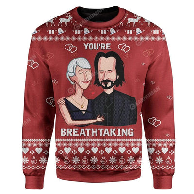 Ugly You're Breathtaking Custom Sweater Apparel HD-DT12111921 Ugly Christmas Sweater Long Sleeve S