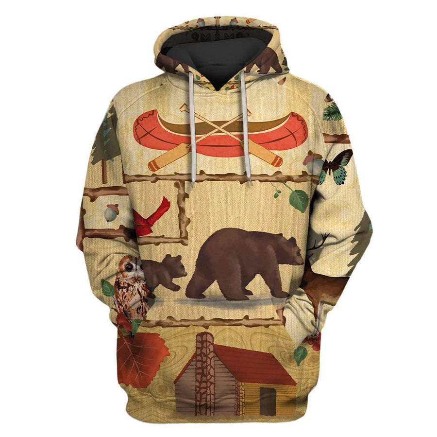 wildlife JOY OF CAMPING Custom Hoodies Apparel