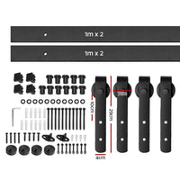 4M Sliding Barn Door Hardware - Black