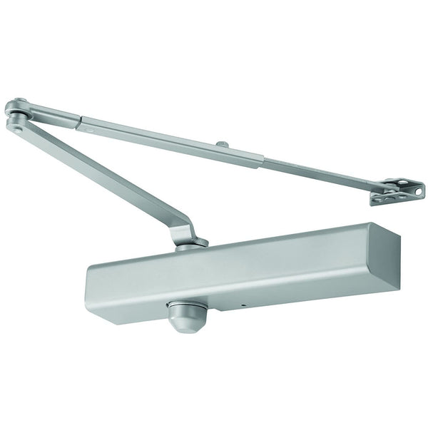 FALCON SC81 RW/PA AL Slim Medium Duty Door Closer, Regular Arm with Parallel Arm Shoe, Slim Cover, Aluminum Finish