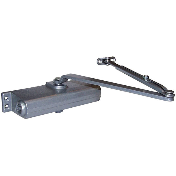 LCN 1260 Medium Duty Door Closer, Aluminum Powder Coat Finished, Cast Iron, Non-Handed, Regular Arm with Parallel Arm Shoe