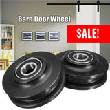 New Arrival Black 1Pc POM Sliding Barn Wooden Door Wheel Closet Hardware Track Roller Window Home Improvement Wheel