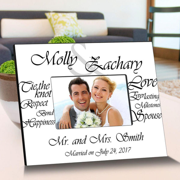 Personalized Everlasting Love Wooden Picture Frames - White - JDS