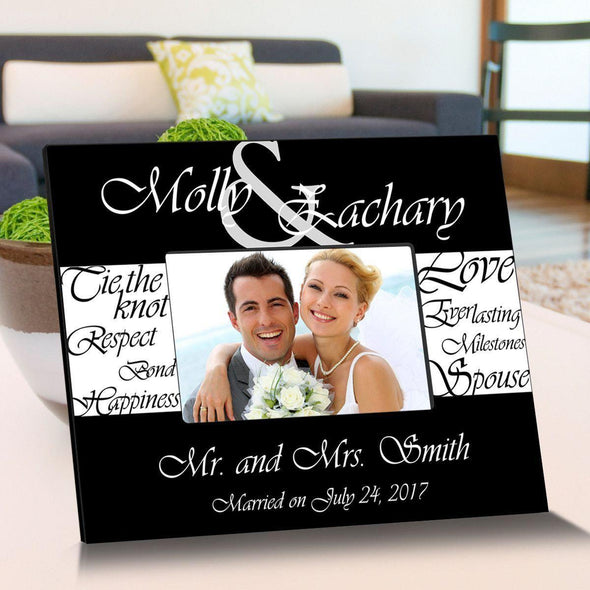 Personalized Everlasting Love Wooden Picture Frames - BlackWhite - JDS