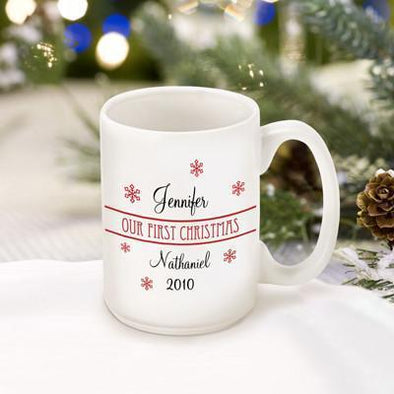 Personalized Our First Christmas Coffee Mug - Style1 - JDS