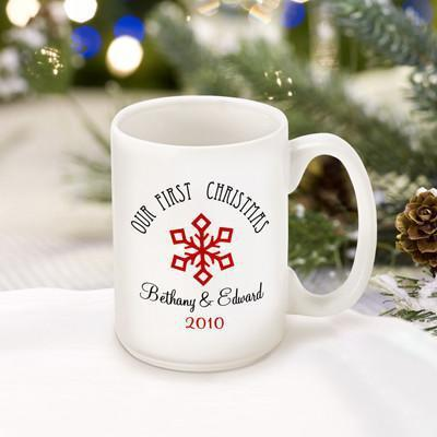 Personalized Our First Christmas Coffee Mug - Style5 - JDS