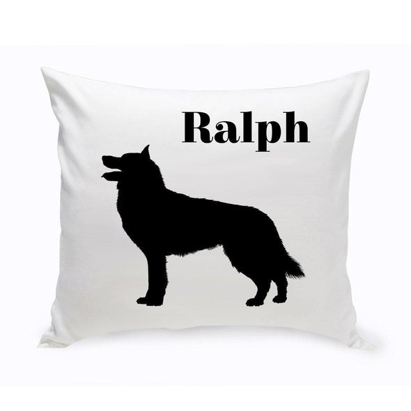 Personalized Dog Throw Pillow - Collie - JDS