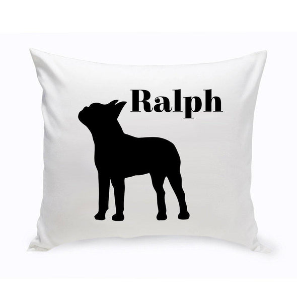 Personalized Dog Throw Pillow - BostonTerrier - JDS