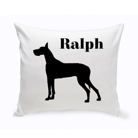 Personalized Dog Throw Pillow - GreatDane - JDS