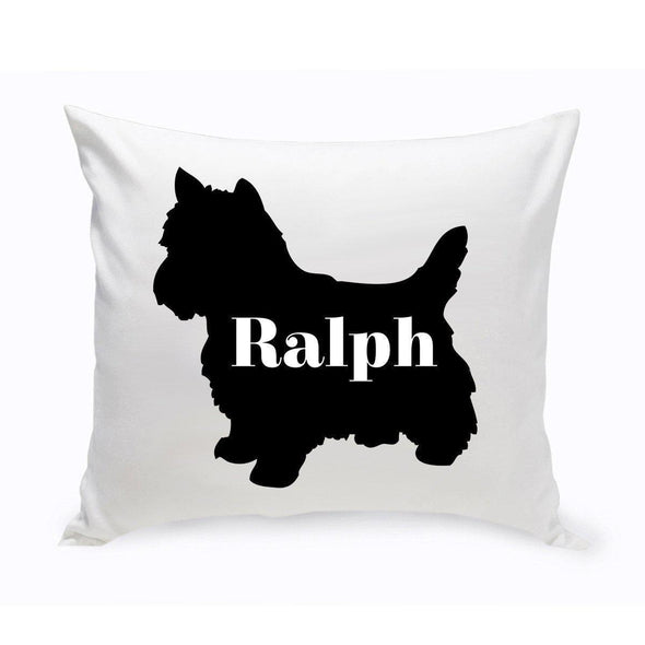 Personalized Dog Throw Pillow - Dog Silhouette - YorkshireTerrier - JDS