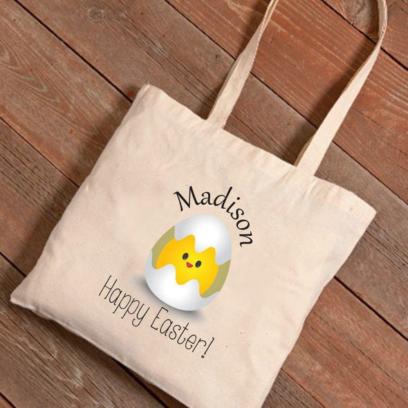 Personalized Easter Canvas Bag - Baby Chick -  - JDS