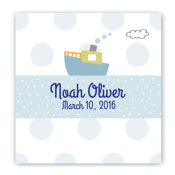 Personalized Baby Nursery Canvas Signs - Boat - JDS