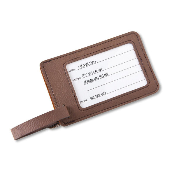 Personalized Vegan Leather Luggage Tags -  - JDS