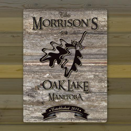 Personalized Weathered Wood Welcome to the Lake Canvas Sign - OakLeaf - JDS