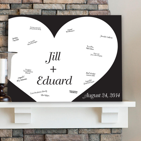 Personalized Guestbook Canvas - Always in Love -  - JDS