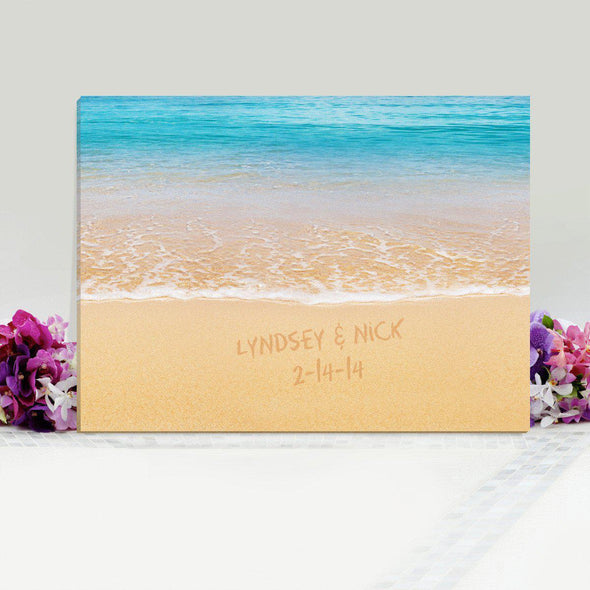Personalized Caribbean Sand Canvas Sign - 2lines - JDS