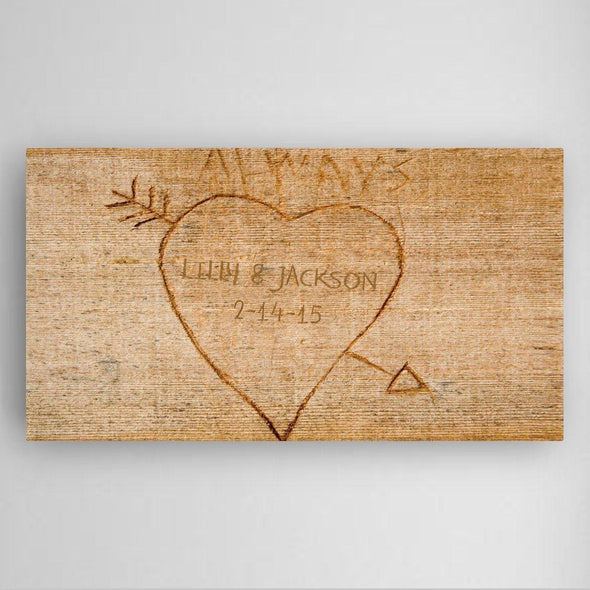 Personalized Cupid's Arrow Canvas Sign -  - JDS