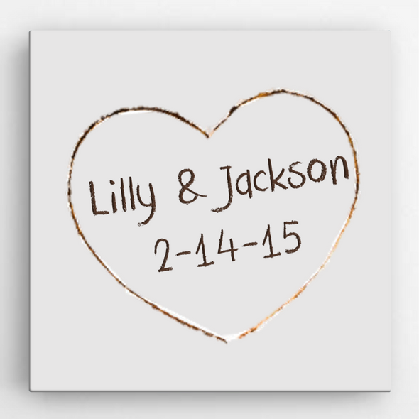 Personalized Romance Love Canvas Sign -  - JDS