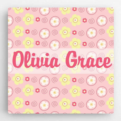 Personalized Pattern Girl Canvas Sign -  - JDS