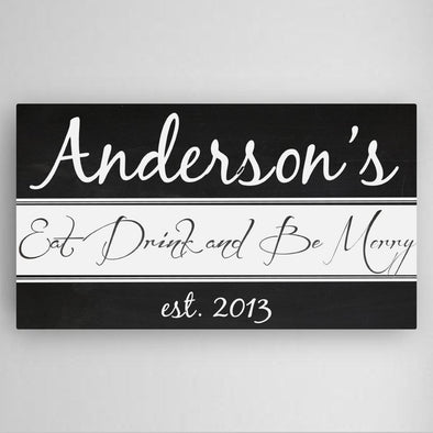 Personalized Kitchen Canvas Sign -  - JDS