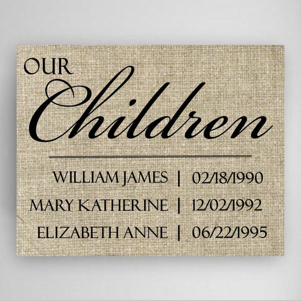 Personalized Our Children Canvas Sign -  - JDS