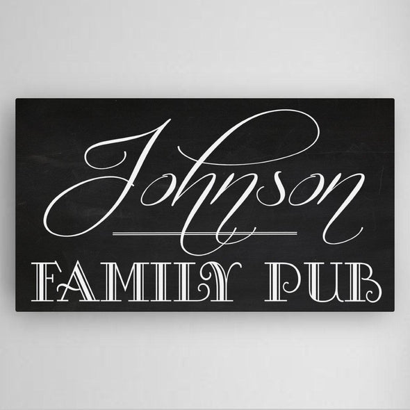 Personalized Family Pub Canvas Sign -  - JDS
