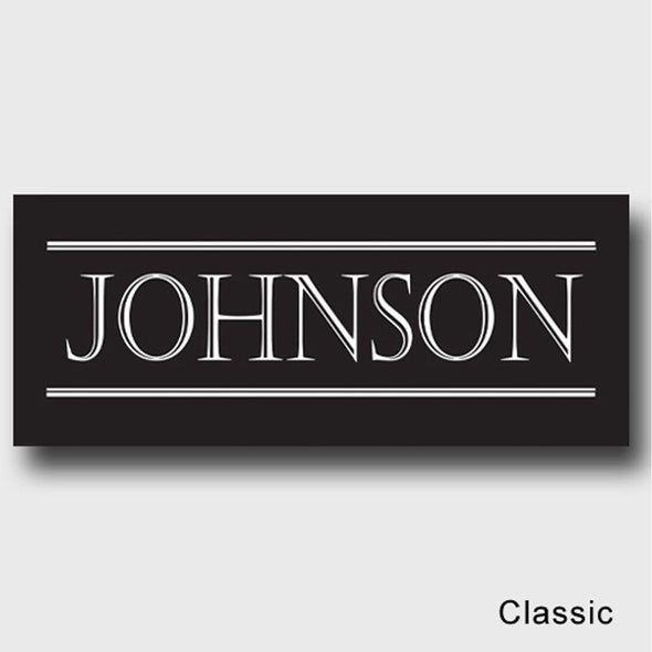 Personalized Family First Canvas Sign - Classic, Elegant, or Script - Classic - JDS